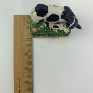 The Treasure Box Accents - A Treasure Box Limoge Cows Hinged Trinket